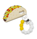 Loulou Lollipop Loulou Lollipop Taco Silicone Teether Holder Set