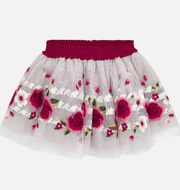 Mayoral Mayoral Floral Tulle Skirt