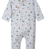 Feather Baby Feather Baby Dinosaurs Fleece Hoody Romper