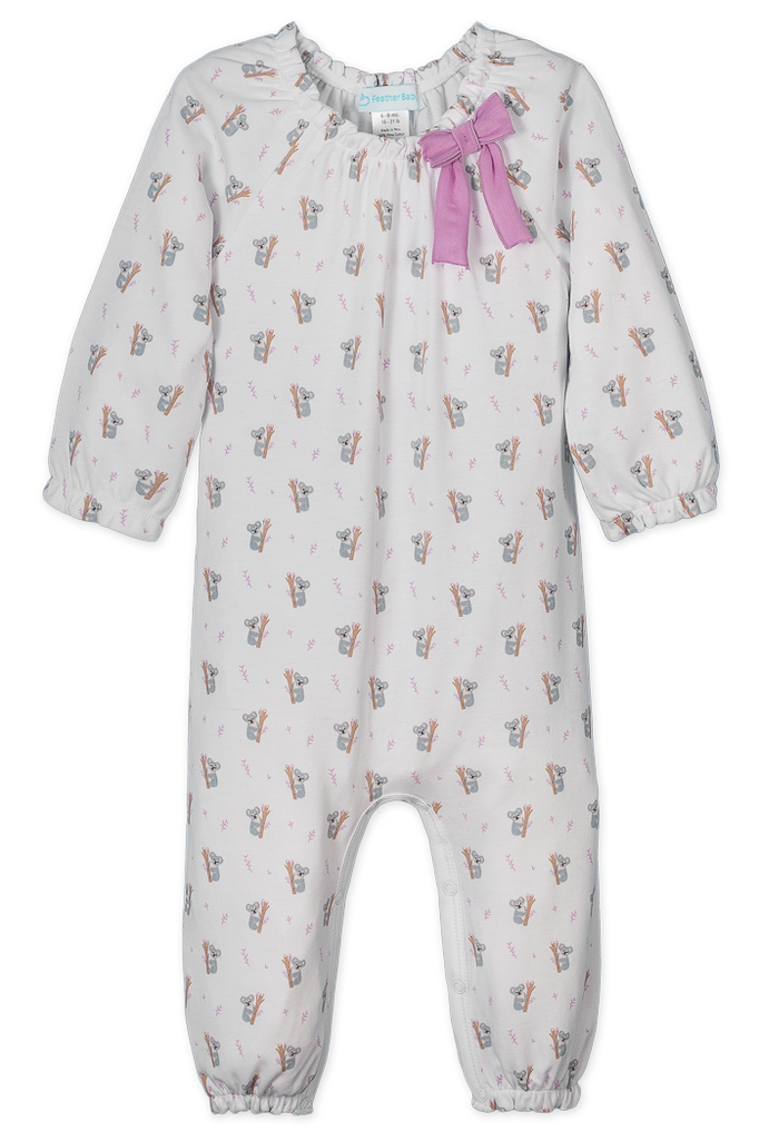 Feather Baby Feather Baby Koalas Bow Romper
