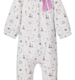 Feather Baby Feather Baby Dinosaurs Bow Romper