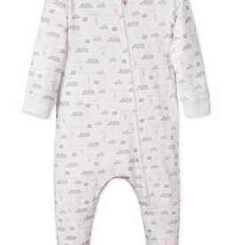 Feather Baby Feather Baby Stormy Sky Zipper Footie