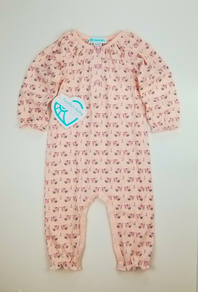 Feather Baby Feather Baby Doves Ruched Romper