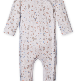 Feather Baby Feather Baby Foxes & Bunnies Ruffle Kimono Footie