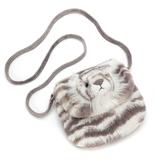 JellyCat Jelly Cat Sacha Snow Tiger Purse