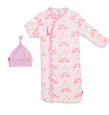 Magnificent Baby Magnificent Baby Flora and Fawna Modal Sack Gown Set