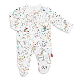 Magnificent Baby Magnificent Baby Pop Jungle Organic Cotton Footie
