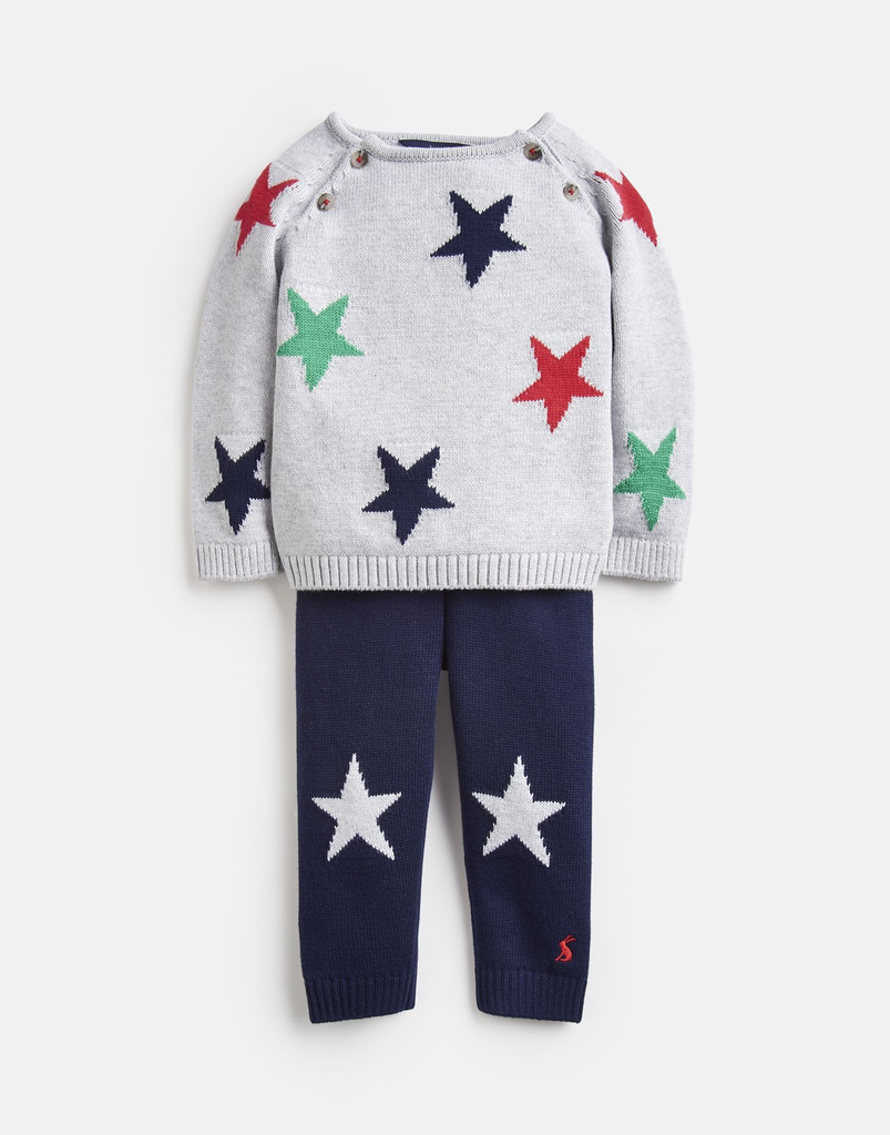 Joules Joules George Knit Top and Pant Set