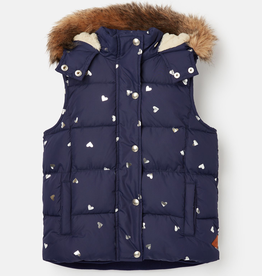 Joules Joules Hearts Vest with Hood