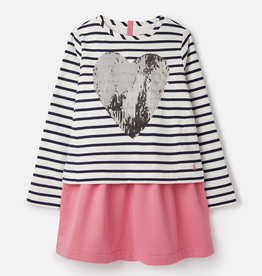 Joules Joules Lucy Sequin Heart Dress