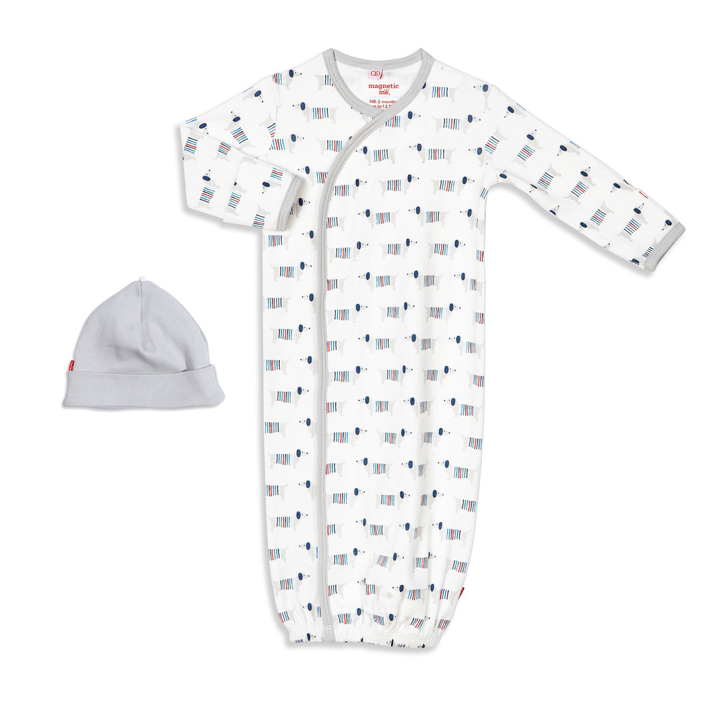 Magnificent Baby Magnificent Baby Sweather Weather Organic Cotton Gown Set