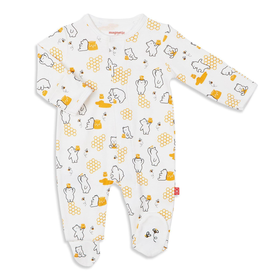 Magnificent Baby Magnificent Baby Honey Bee Mine Organic Cotton Footie