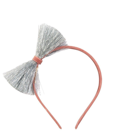 Meri Meri Meri Meri Silver Tinsel Bow Headband