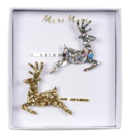 Meri Meri Meri Meri Glitter Reindeer Hair Slides