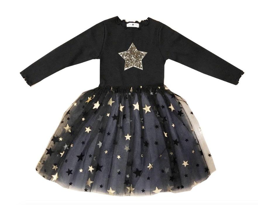 Petite Hailey Petite Hailey Long Sleeve 2 Star Tutu Dress