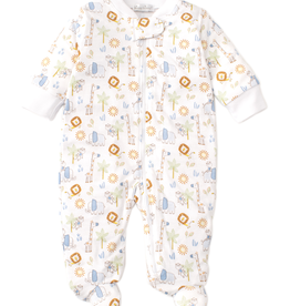 kissy kissy Kissy Kissy Jungle Joy Footie with Zipper