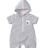 kissy kissy Kissy Kissy Whale of a Time Striped Terry Romper *more colors*