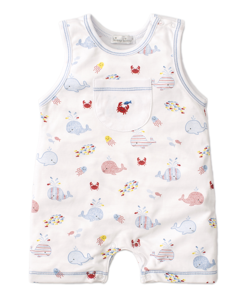 kissy kissy Kissy Kissy Whale of a Time Sleeveless Playsuit