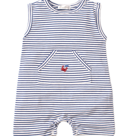 kissy kissy Kissy Kissy Whale of a Time Sleeveless Striped Playsuit