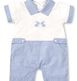 kissy kissy Kissy Kissy Pique Baby Bunnies Short Playsuit