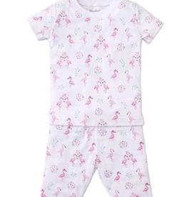 kissy kissy Kissy Kissy Flowering Flamingos Short Pajama Set