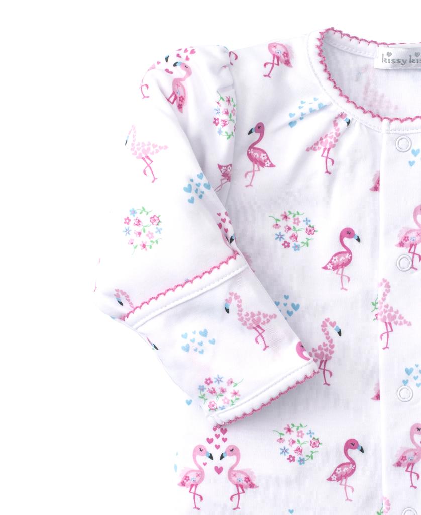kissy kissy Kissy Kissy Flowering Flamingos Footie