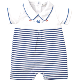 kissy kissy Kissy Kissy Crab Craze Short Striped Playsuit