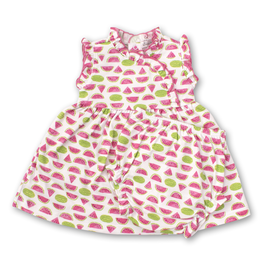 kissy kissy Kissy Kissy Whimsical Watermelons Dress with Diaper Cover