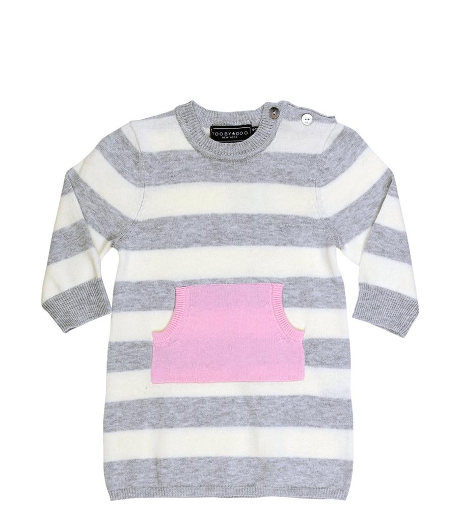 tooby doo Tooby Doo Baby Sweater Knit Pocket Dress