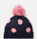 Joules Joules Bobble Pink Spot Hat