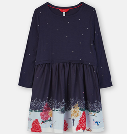 Joules Joules Merrie Wildlife Border Dress