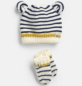 Joules Joules Cute Striped Hat and Mittens Set *more colors*