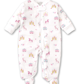 kissy kissy Kissy Kissy Unicorn Castle Footie with Zipper