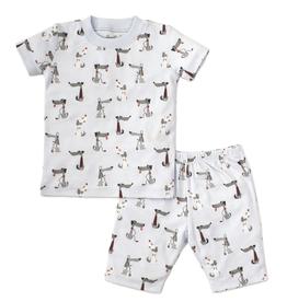 kissy kissy Kissy Kissy In Tune Pups Short Pajama Set