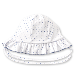kissy kissy Kissy Kissy Blue Blossoms Reversible Floppy Hat