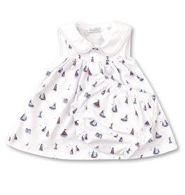 kissy kissy Kissy Kissy Seaside Surprise Dress with Diaper Cover