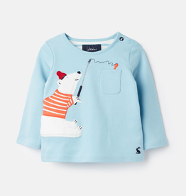 Joules Joules Peeker Polar Bear Pocket Top