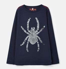 Joules Joules Cullen Reversible Sequin Spider T-Shirt