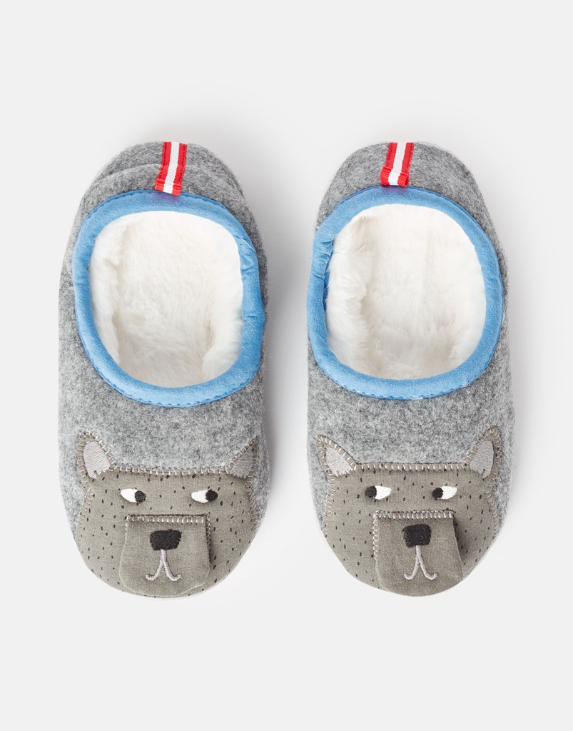 Joules Joules Junior Slippet Bear Applique Slipper