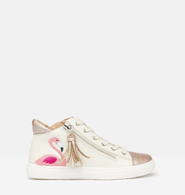 Joules Joules Pink Flamingo High Top Sneaker