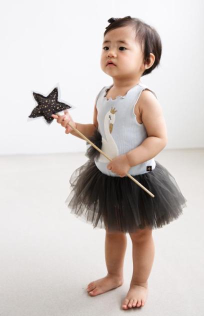 Petite Hailey Petite Hailey Swan Baby Tutu Dress