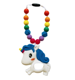 Summer Lulu Summer Lulu Rainbow Unicorn Baby Carrier Teether