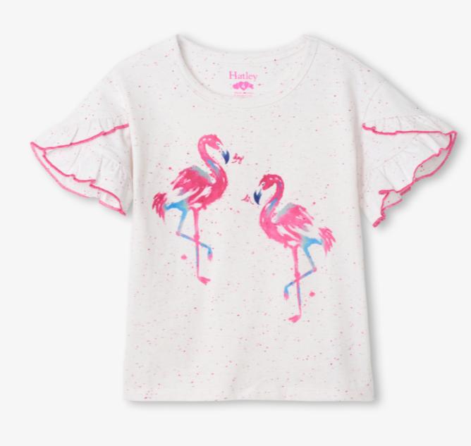 Hatley Hatley Fancy Flamingo Flutter Sleeve Tee