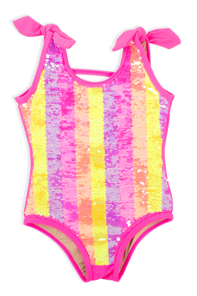 Shade Critters Shade Critters All Over Striped Sequin One Piece