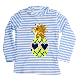Shade Critters Shade Critters Sequin Striped Pineapple Rashguard