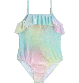 Billieblush Billieblush Swimsuit with Iridescent Color