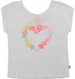 Billieblush Billieblush Tee with Seashell Heart Graphic
