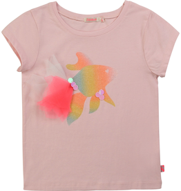 Billieblush Billieblush Tee with Watercolor Fish Print