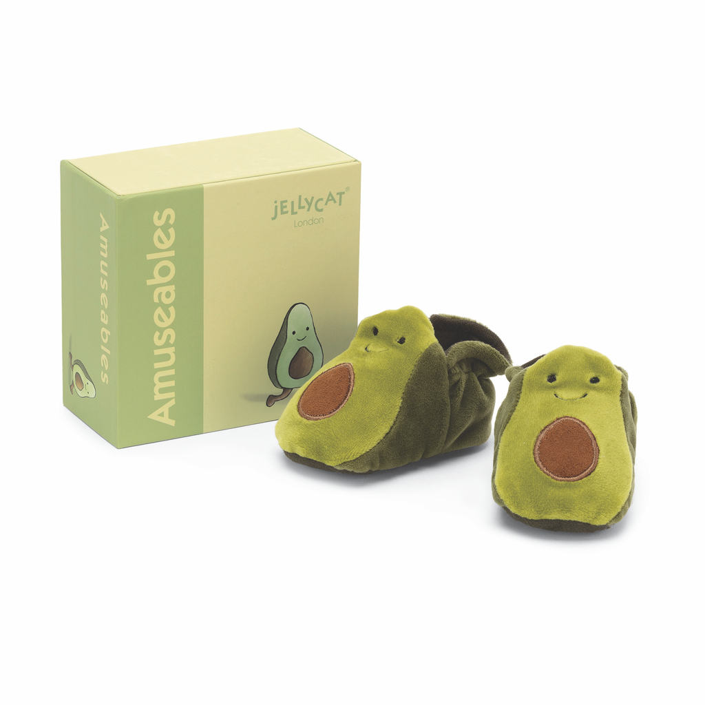 JellyCat Jelly Cat Amuseable Avocado Baby Booties