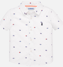 Mayoral Mayoral Short Sleeve Print Button Down